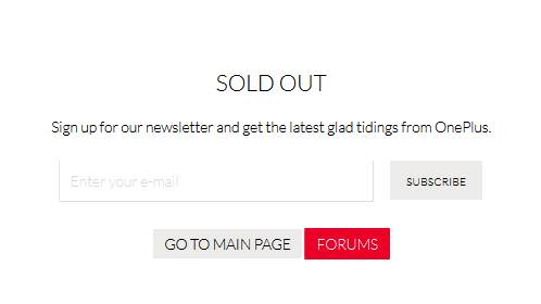 OnePlus One Sold Out